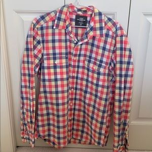 H&M men's fitted plaid shirt